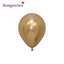 Sempertex Reflex Gold 5 Inch Latex Balloons 50pk