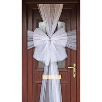 Door Decoration Bow Organza White