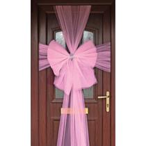 Door Decoration Bow Organza Light Pink