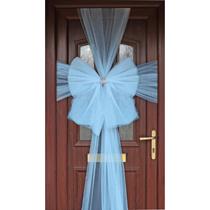Door Decoration Bow Organza Light Blue