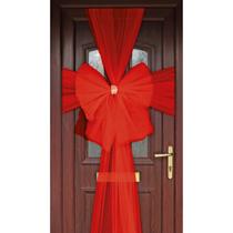 Door Decoration Bow Organza red