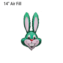 Green Easter Rabbit Bunny Small 14 inch foil balloon
