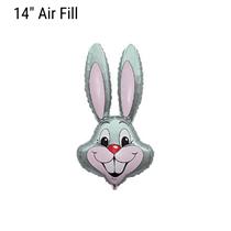 Grey Easter Rabbit Bunny Small 14 inch foil balloon