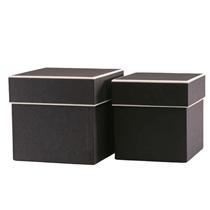 Black Hat Boxes Set Of 2