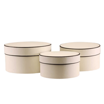 Cream Hat Boxes Set Of 3