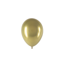 Gold Chrome Chromium Decotex 5 Inch latex balloon 50 pack