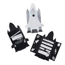 rocket ship space party invites invitations 10pk