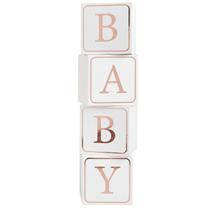 Baby Shower decoration blocks rose gold