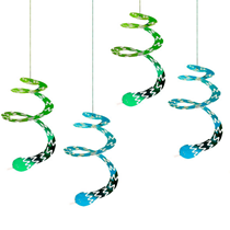 Jungle Party Swirling Snakes Hanging Decorations 4 pack