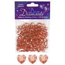 Rose Gold heart wedding diamante