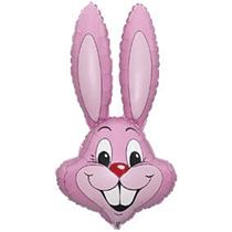 Pink Rabbit Head Easter Bunny Jumbo Foil Balloon
