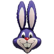 Jumbo purple rabbit easter bunny foil balloon