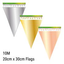 Large Metallic Flag Banner Bunting