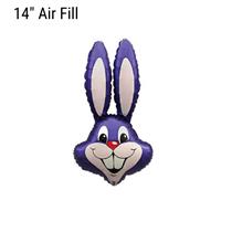 Purple Easter Rabbit Bunny Small 14 inch foil balloon