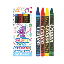 Pack of 4 wax crayons party bag filler favour prize