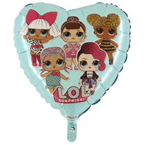 LOL Surprise Tiffany Heart 18 Inch Foil party Balloon