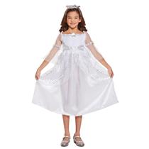 Nativity Christmas Angel White Fancy Dress Costume