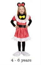 Child Mouse Girl Fancy Dress Costume 4 - 6 yrs