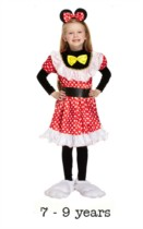 Child Mouse Girl Fancy Dress Costume 7 - 9 yrs