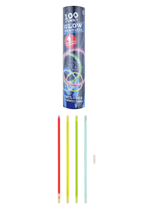 Glow Bracelet Tub 100pk Assorted Colours