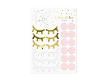 Little Star Stickers Eyelashes Cheeks 10pce