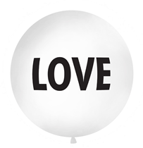 Giant 1M (3.3ft) White Love Latex Balloon