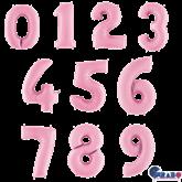 "Pastel Pink 26"" Foil Number Balloons"