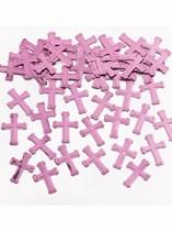 Pink Cross Christening Confetti 14g