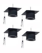 Graduation Mortarboard Lantern Decorations 4pk