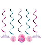 Princess Party Hanging Swirl Decorations 5pk