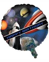 "Space Blast Happy Birthday 18"" Foil Balloon"