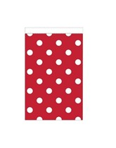 Mini Red Polka Dot Paper Treat Bags 20pk