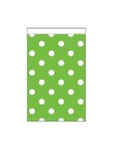 Mini Lime Green Polka Dot Paper Treat Bags 20pk