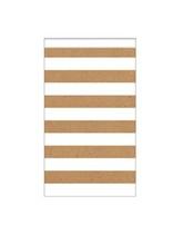 Medium Kraft Striped Paper Treat Bags 15pk