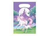 Unicorn Fantasy Plastic Party Bags 8pk