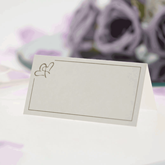 Ivory With Gold Hearts Place Cards 50pce