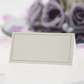 Ivory With Gold Border Place Cards 50pce