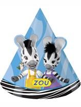 Zou Zebra Party Hats 8pk