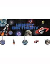 Space Blast Happy Birthday Party Banner