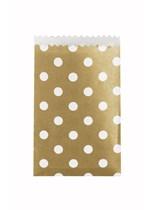 Mini Gold Polka Dot Paper Treat Bags 20pk