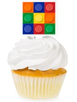 Block Party Cupcake Toppers 12pk