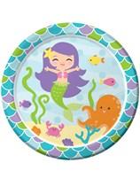 Mermaid Friends Paper Plates 8pk