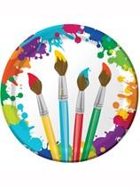 Art Party Paper Plates 8pk