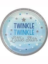 Blue Twinkle Little Star Paper Plates 8pk