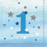 Blue Twinkle Little Star 1st Birthday Napkins 16pk