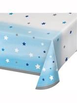 Blue Twinkle Little Star Plastic Tablecover
