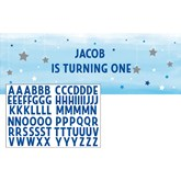 Blue Little Boy Twinkle Star Giant Personalised Banner