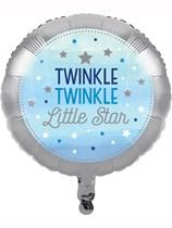 """Blue Twinkle Little Star 18"""" Foil Balloon"""