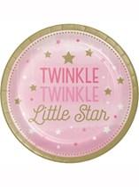 Pink Twinkle Little Star Paper Plates 8pk