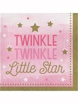 Pink Twinkle Little Star Luncheon Napkins 16pk